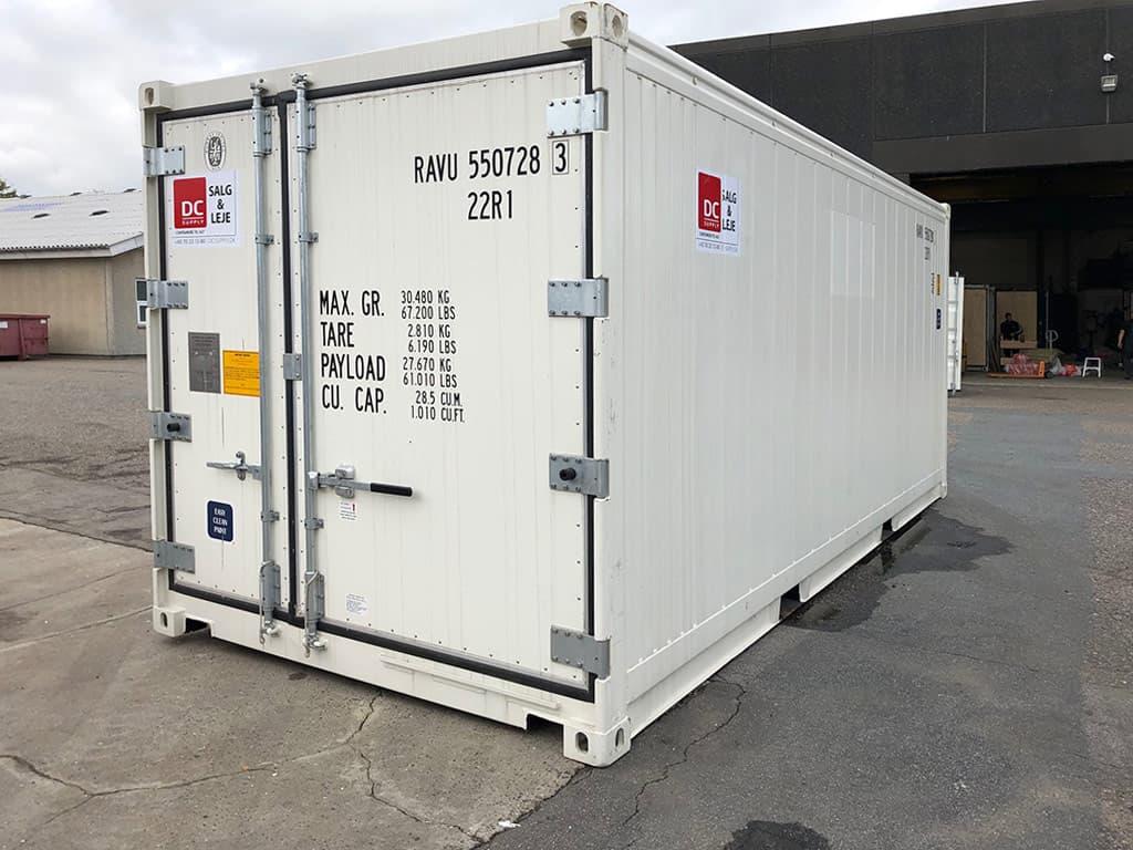 Hos DC-Supply kan vi levere 10, 20 og 40 fod reefere.