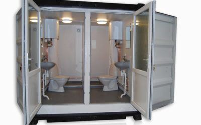 Container with toilet and shower – DCS 1012