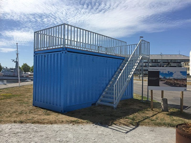 Havnegadeboksen - Mobile info container for the Municipality of Randers
