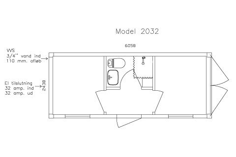 Accommodation container model no 2032 w/ 2 rooms - OK conditio