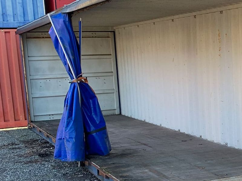 40 ft container with tarp - DKK 12,500.00 - as seen