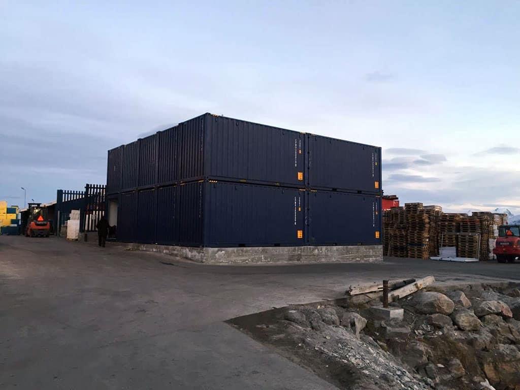 Freezer storage house Uummannaq