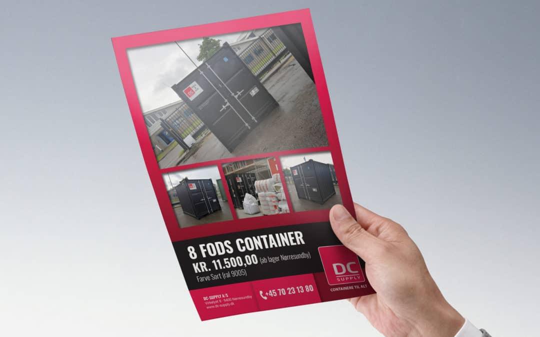 Kampagnepris på 8 fods container