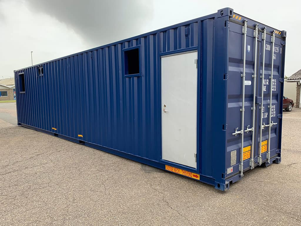 40 ft container with liquid collecting tray and sound proofing