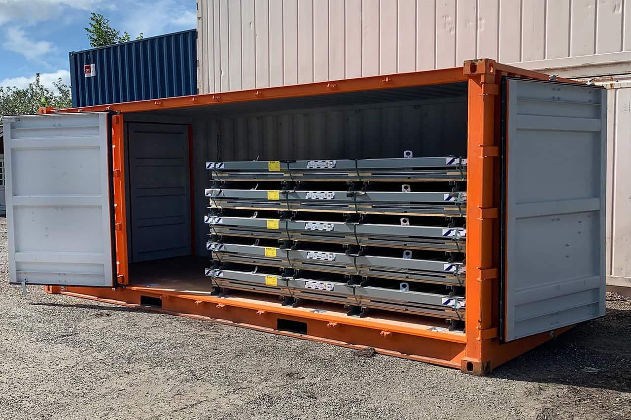 Kampagnepris 20 fods sidedørscontainer - Kr. 29.500,00 ab lager Nørresundby