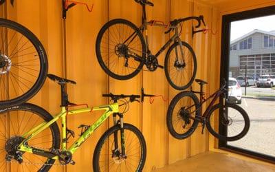 Cykelbibliotek i container