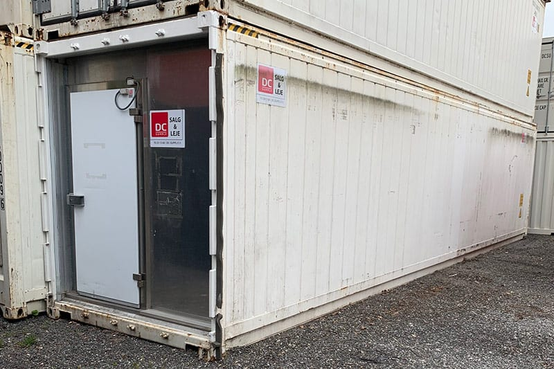 40 ft reefer container - DKK 55,000 - good condition including freezer door without container