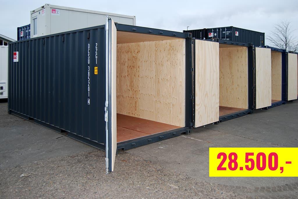Isoleret container kun kr. 28.500,-