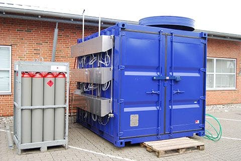 Generator container for military applications and emergency use