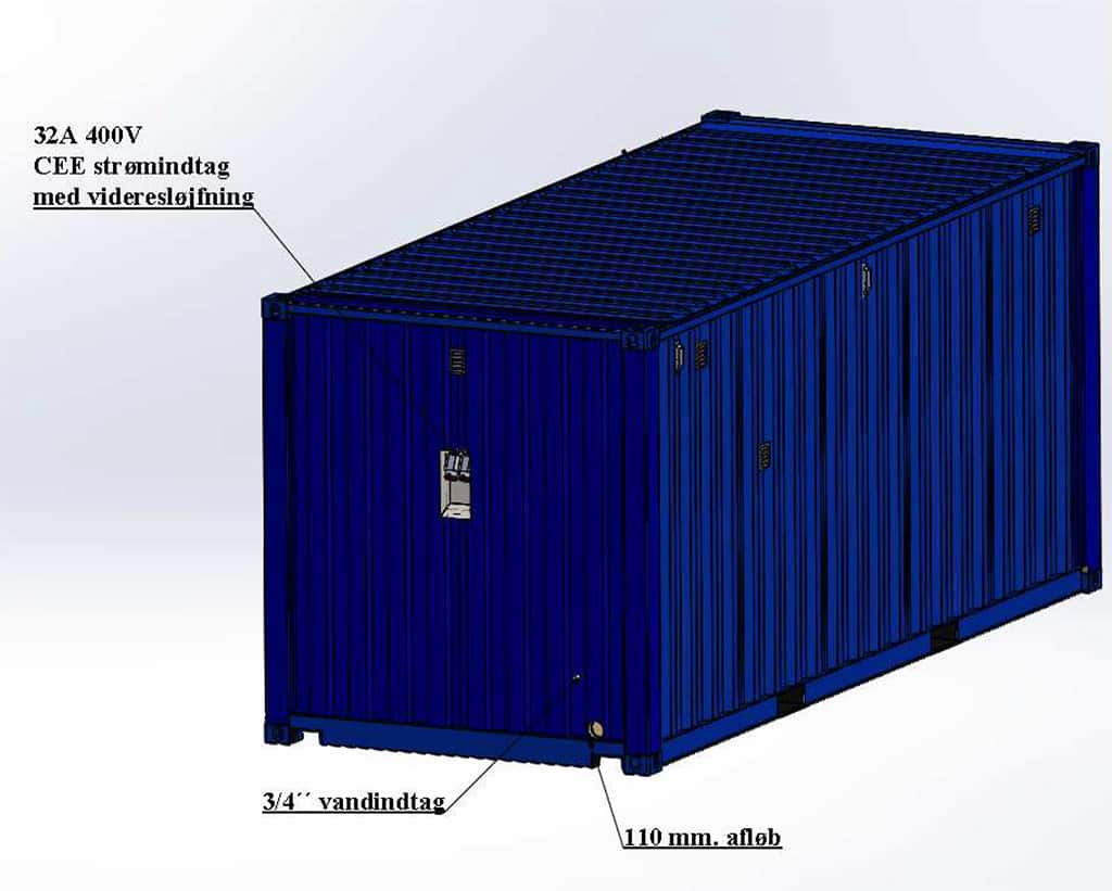 Container main supply connection
