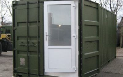 Wet room container designed and built for military applications
