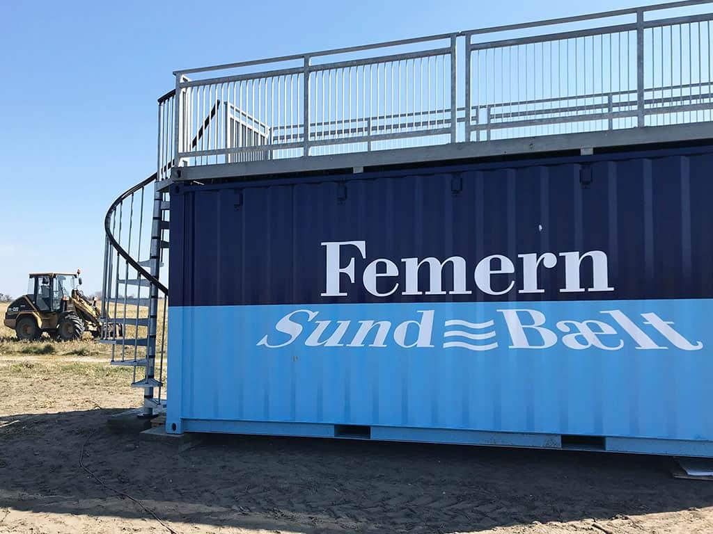 Femern Sund & Bælt info container