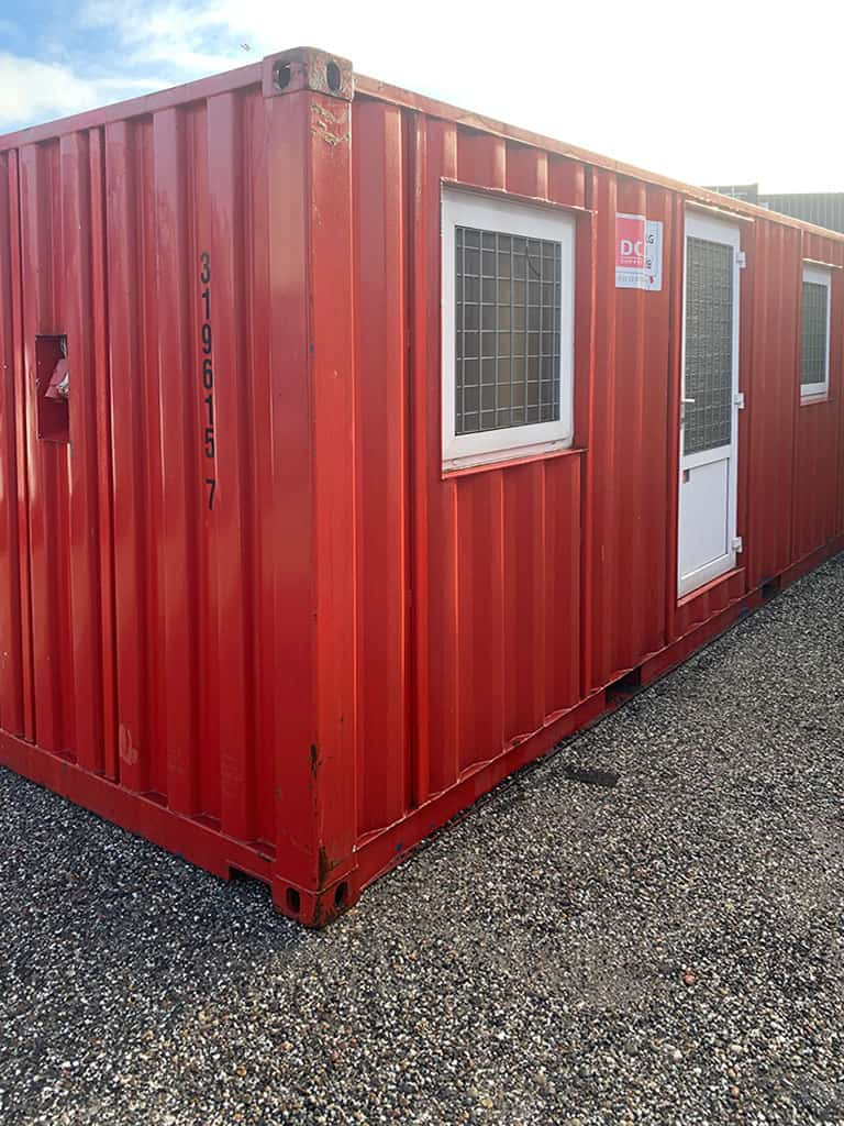 Beboelsescontainer model 2032 med 2 rum - OK stand. 319 615-7
