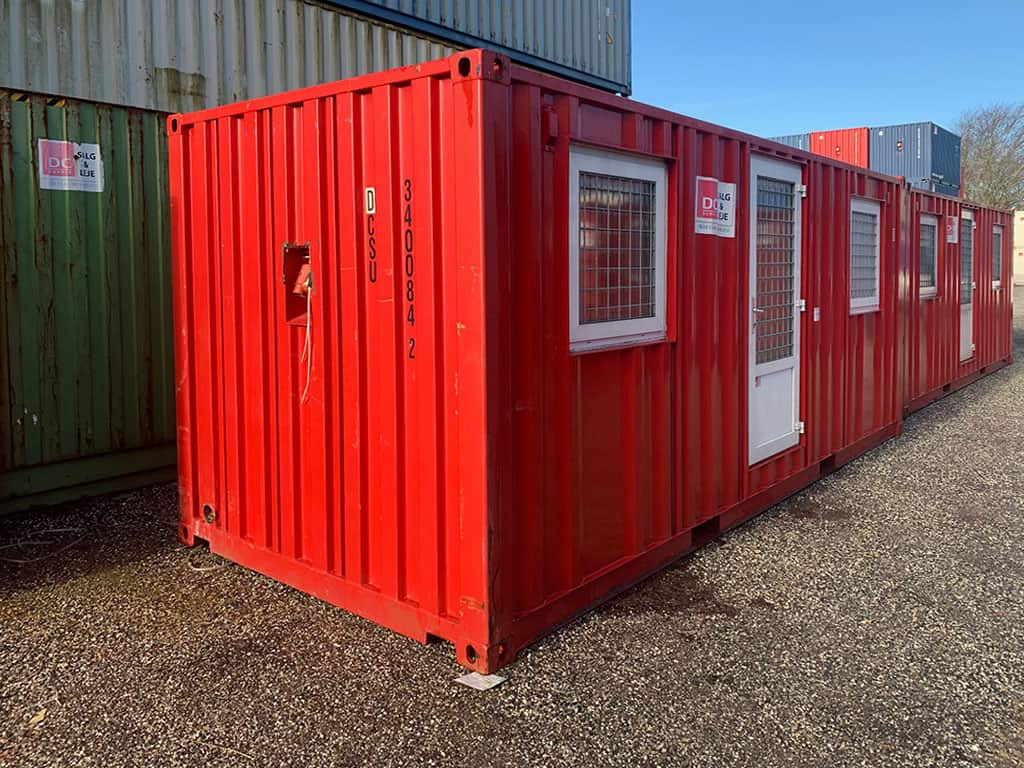 Accommodation container model no 2032 w/ 2 rooms. No. 340 084-2