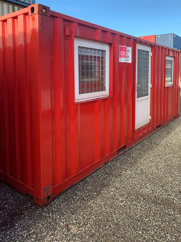 Beboelsescontainer model 2032 med 2 rum - OK stand. 350 513-9