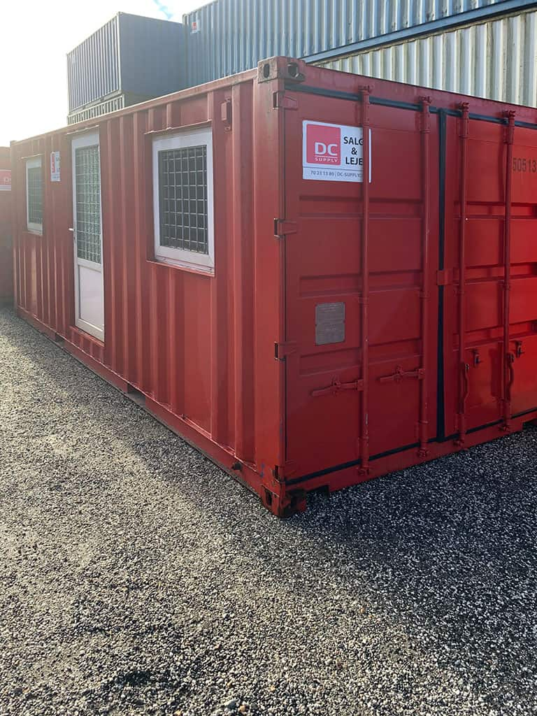 Beboelsescontainer model 2032 med 2 rum - OK stand. 3350 513-9