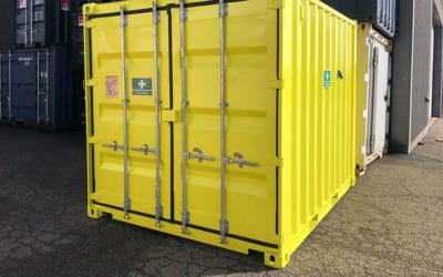 First aid container for construction sites