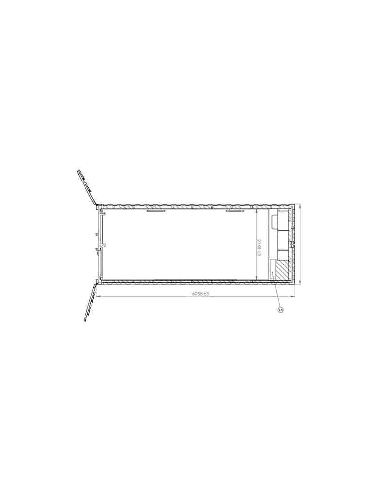 Kitchen container model 2044 - DKK 40,000