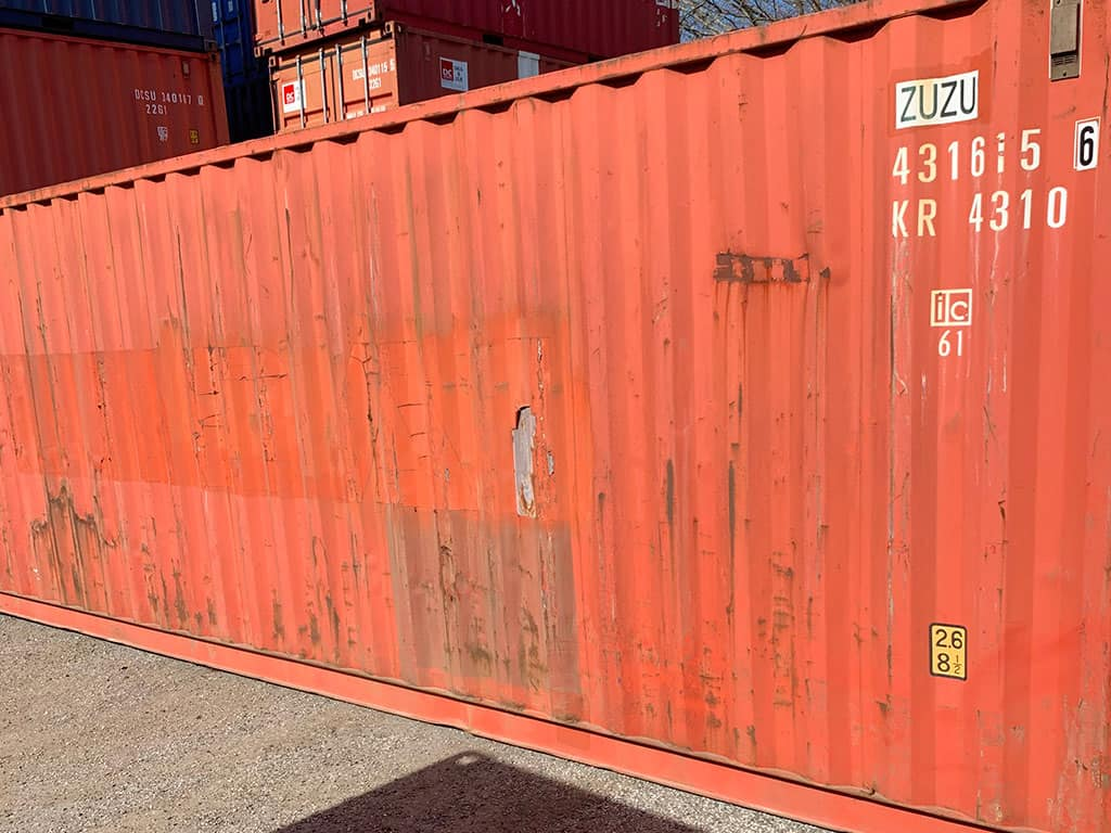 40 ft storage container nr. 431 615-6 - DKK 9,700