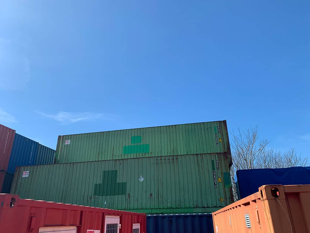 40 ft used container DKK 12,000