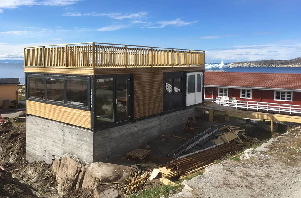 Special container løsning til souvenirbutik i Grønland