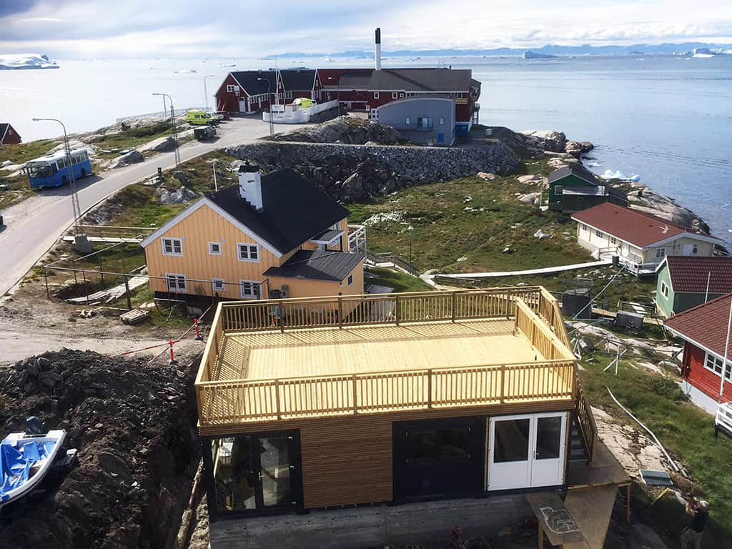 Custom souvenir shop container solution in Greenland