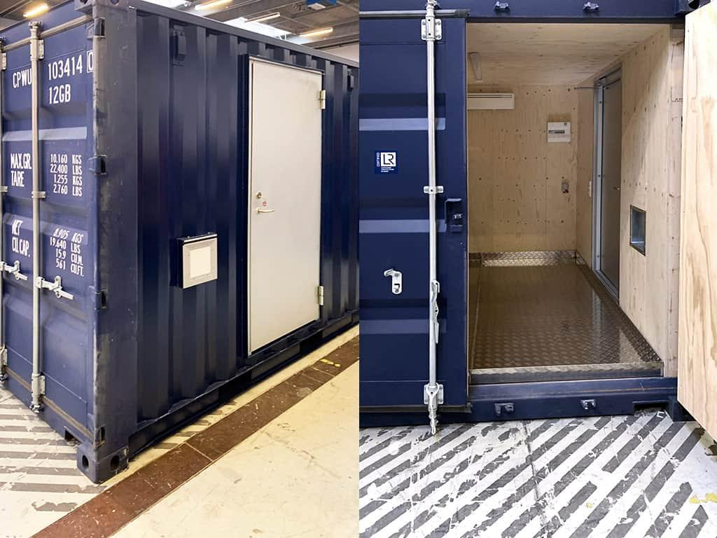 Container til højtryksrenser