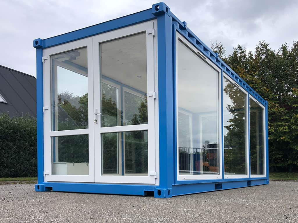 """Glass exhibition container for """"Flodbyen Randers"""""""