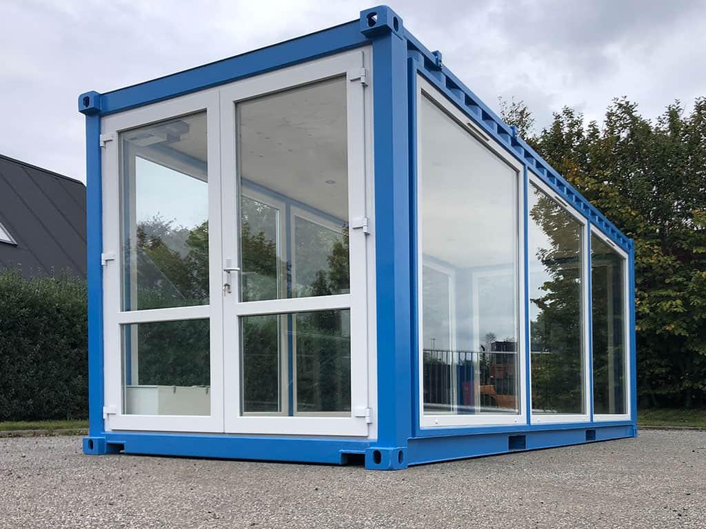 Udstillingscontainer i glas til Flodbyen Randers