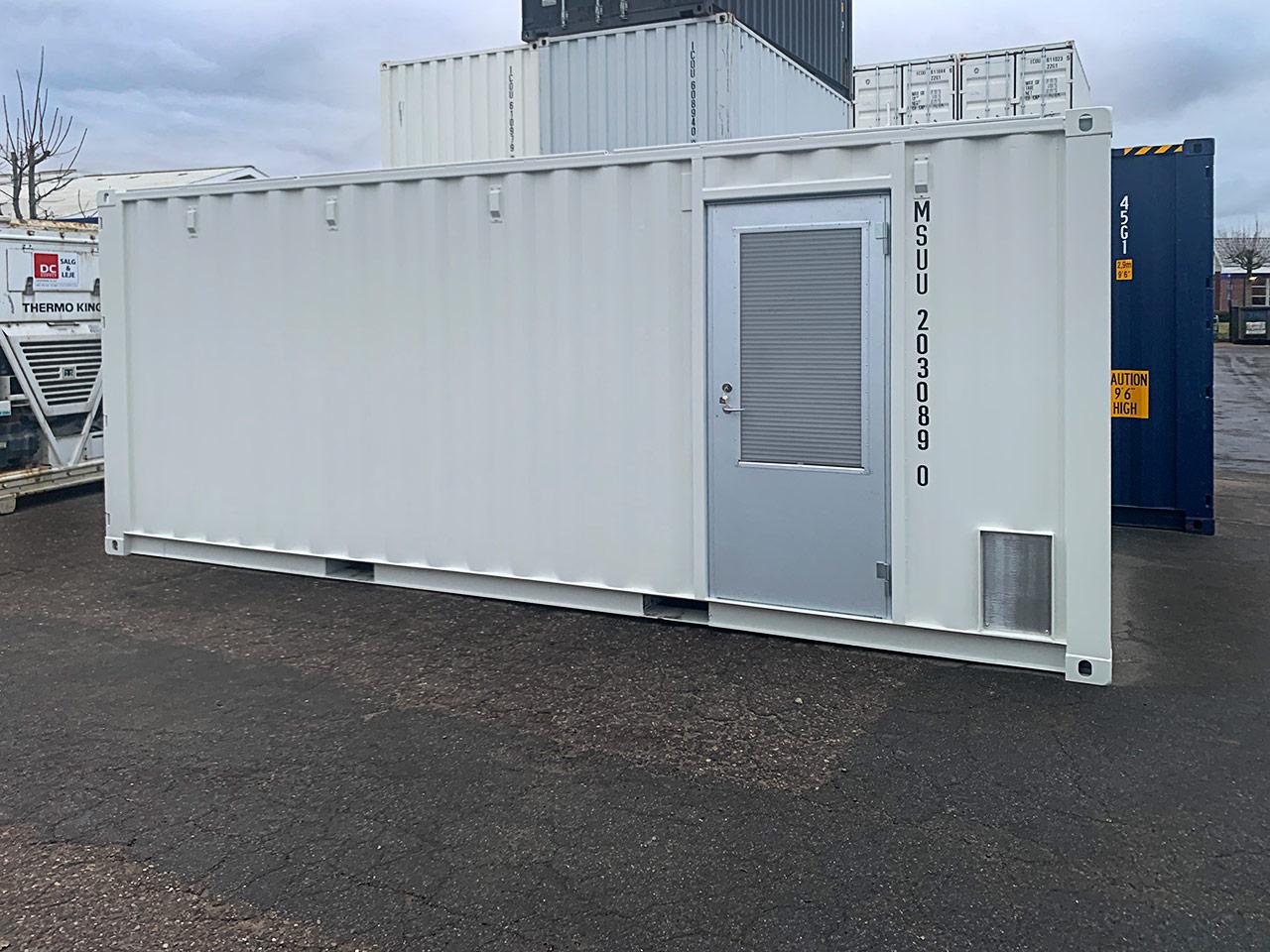 Specialbygget støjdæmpet container