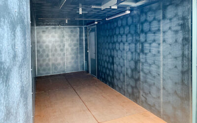 Custom-built soundproof container