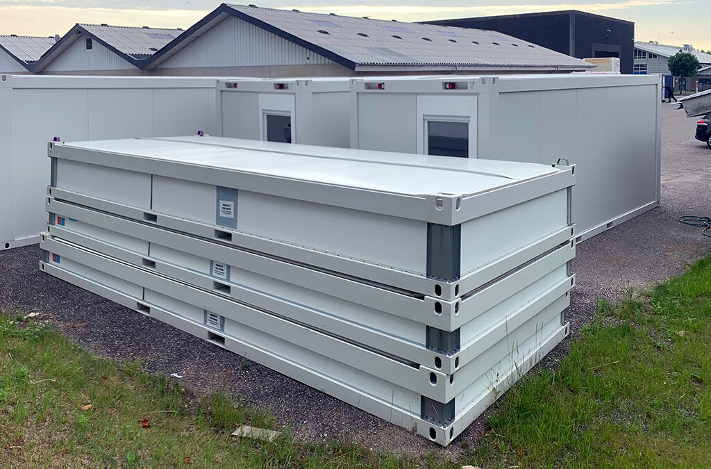 20 fods flat pack container modul
