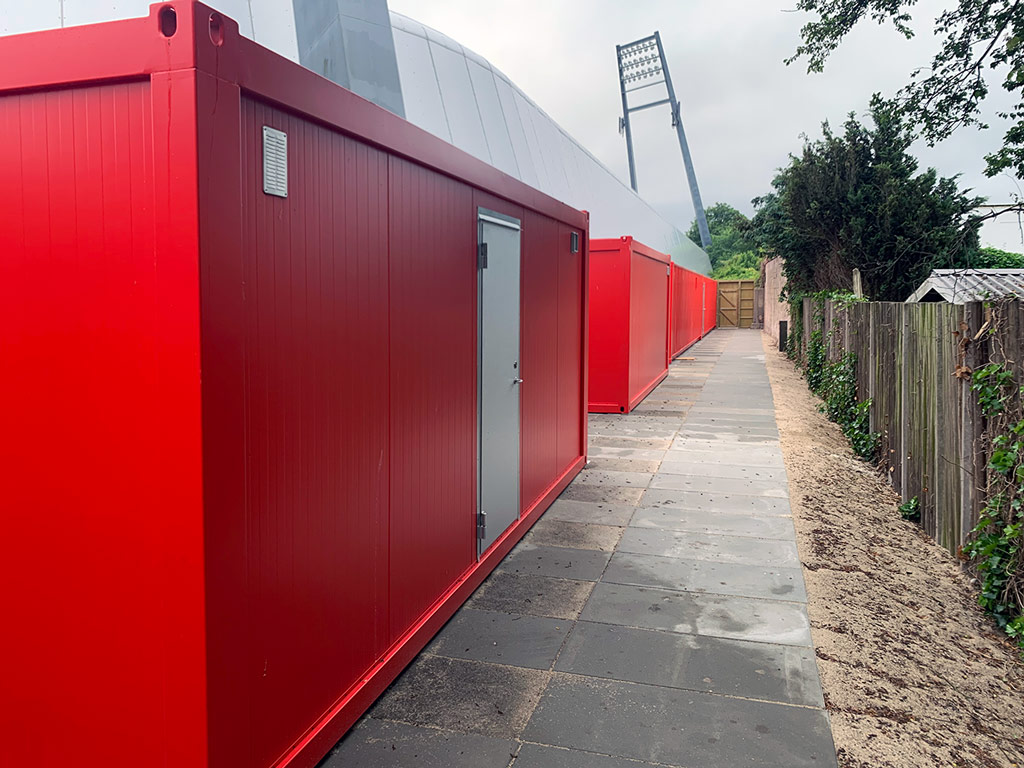 Custom-built container solution for AaB fan zone